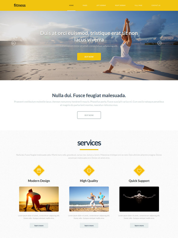 yoga exercise website template sports fitness website