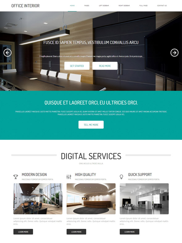 Charmant Office Interior HTML Template
