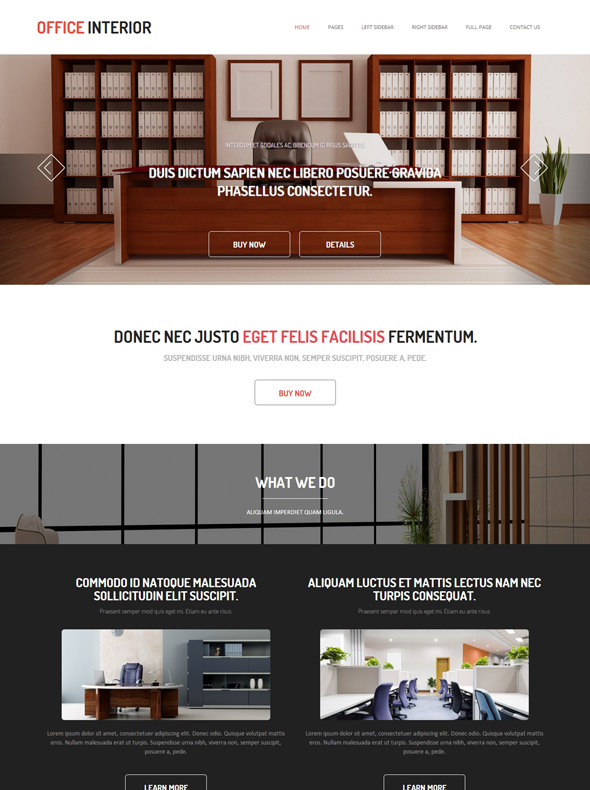 Interior Design Furniture Websites With Pics And Prices ~ Office interior design website template