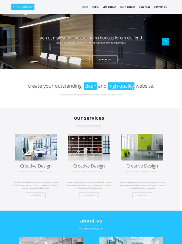 Office Decoration HTML Template