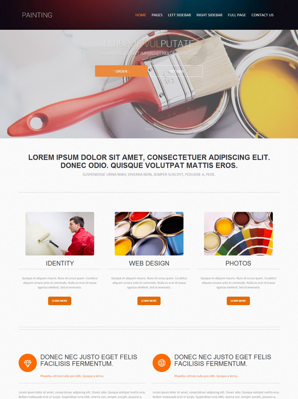 Painting Art Web Template - Painting - Art & Photography ...