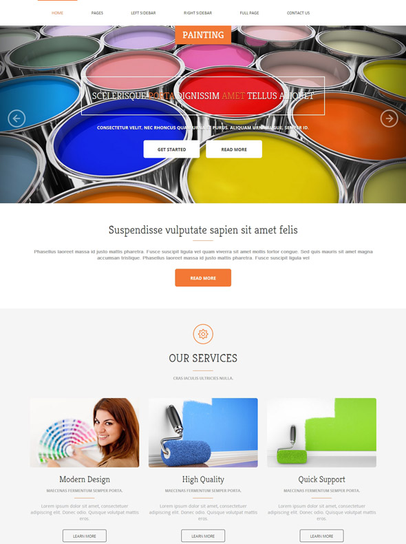 Painting Services Website Template - Painting - Art & Photography ...
