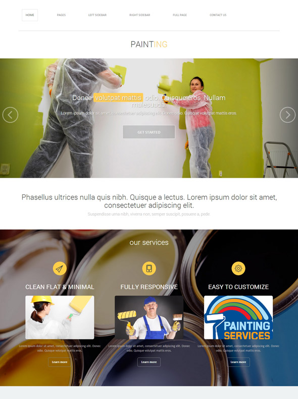 Painting Wall Web Template