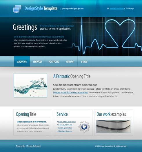 5597 medical website templates dreamtemplate 5597 templates website maxwellsz