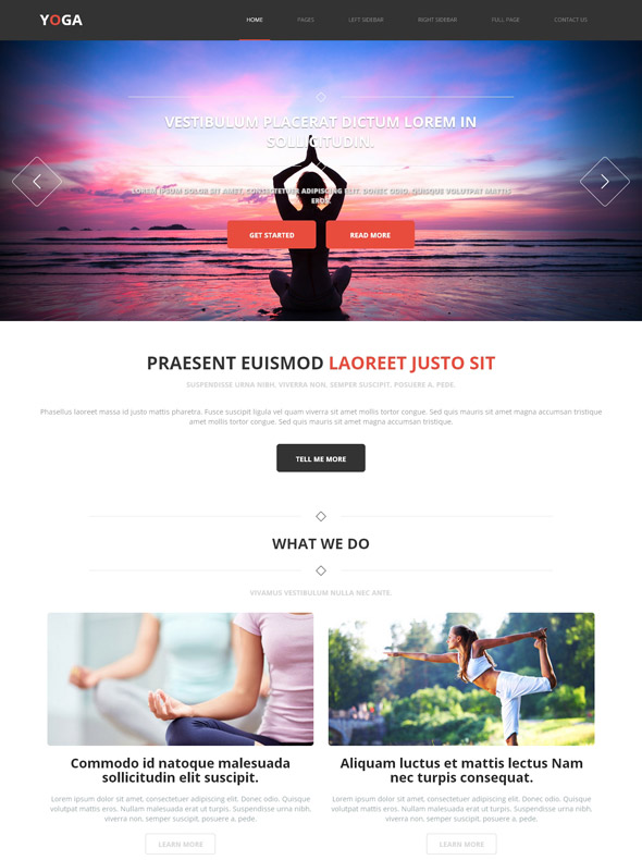 yoga exercises web template yoga sports dreamtemplate
