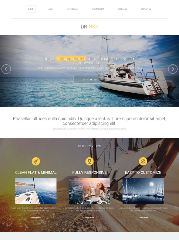 Yacht racing web template yachting sports dreamtemplate yacht racing web template toneelgroepblik Image collections