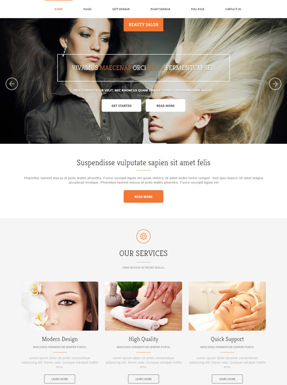 Hair Salon Website Template Beauty Fashion