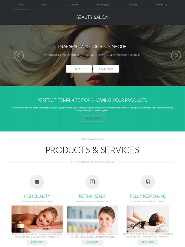 hair salon web template beauty salon beauty fashion