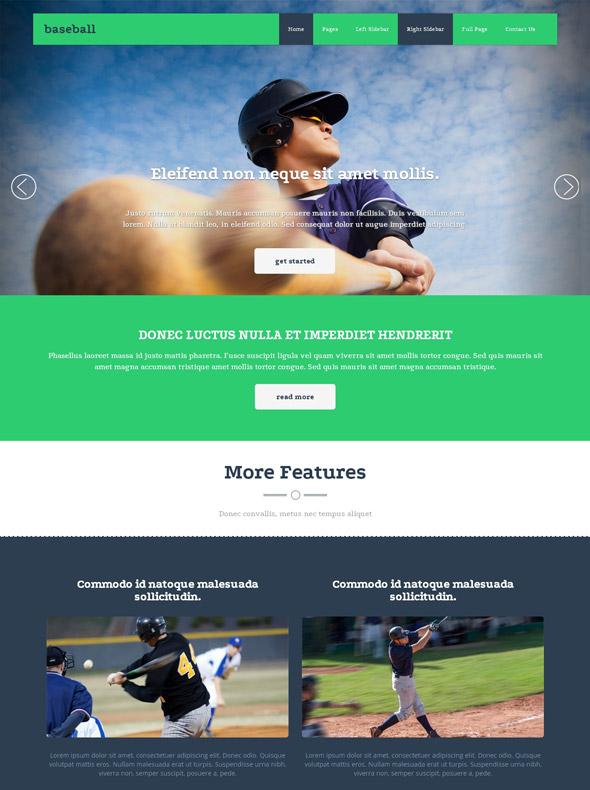 Baseball Academy Website Template - Baseball - Sports - DreamTemplate