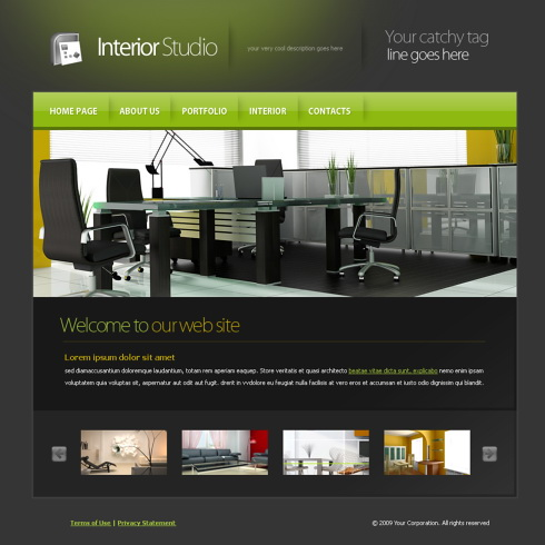 5965 interior furniture website templates