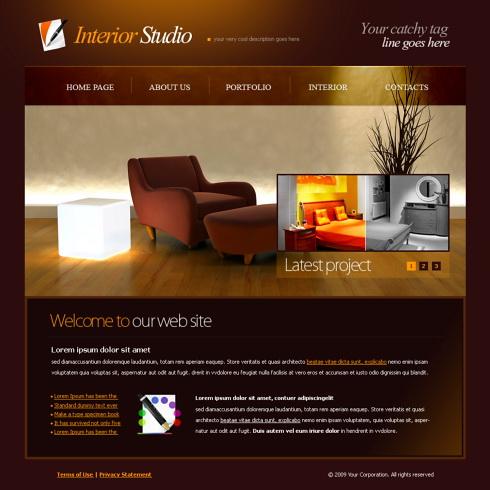 5996 - Interior & Furniture - Website Templates - DreamTemplate