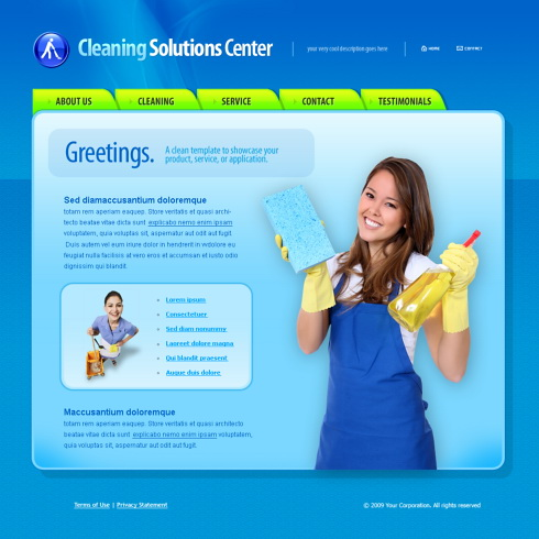 Cleaning services website template free kubreforic cleaning services website template free accmission Image collections
