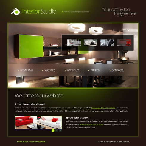 In house an interior and furniture responsive web template.