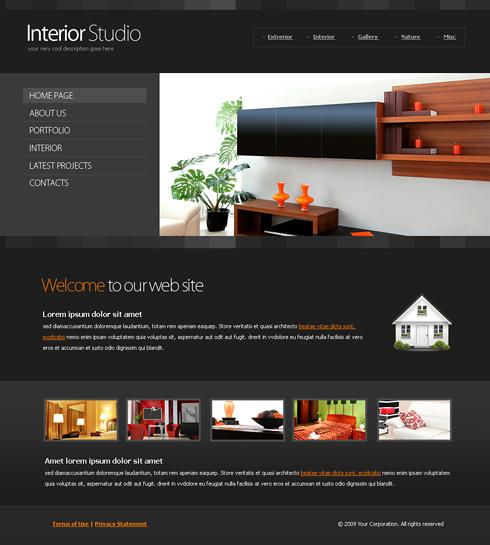 6117 - Interior & Furniture - Website Templates - DreamTemplate