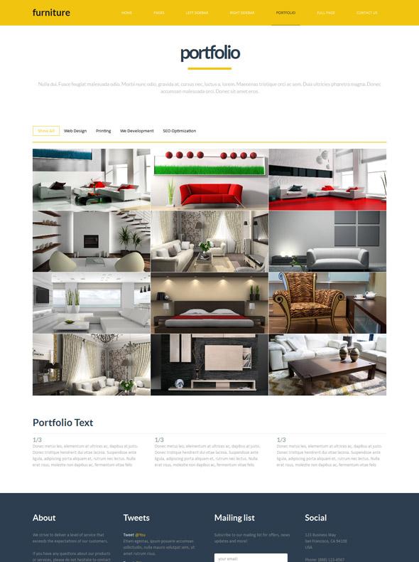 Furniture site template interior furniture website for Interior furniture website