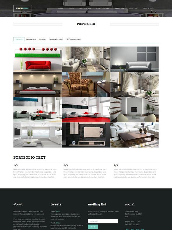 Furniture website template interior furniture for Interior furniture website