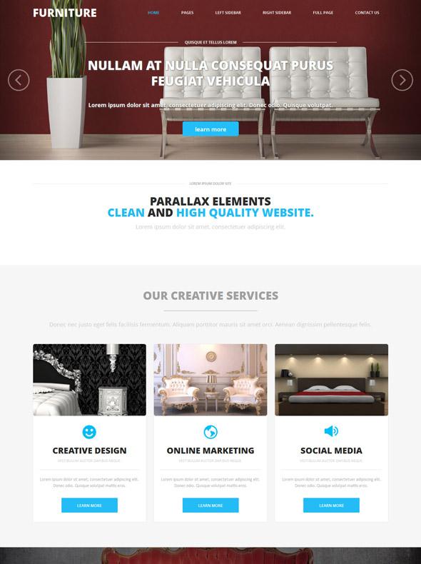 Home design site template interior furniture website for Interior furniture website