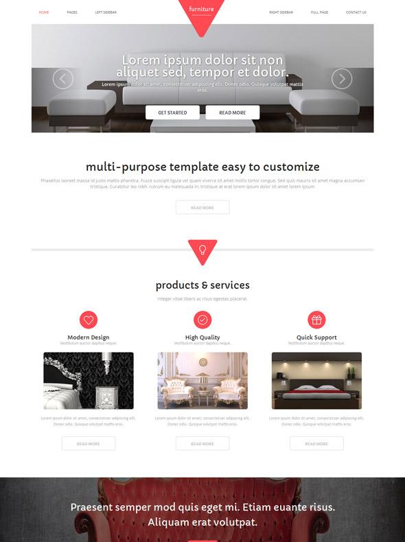 Furniture Website Template - Interior & Furniture - Website ...