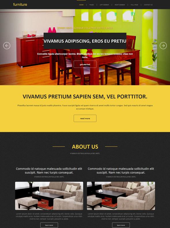 Home interior web template interior furniture for Interior furniture website