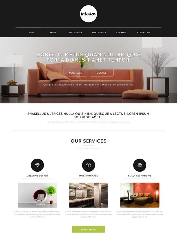Interior web template interior furniture website for Interior furniture website