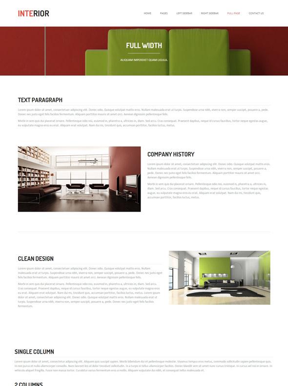 Interior design website template interior furniture for Interior furniture website