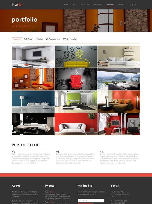 Interior design site template interior furniture for Interior furniture website