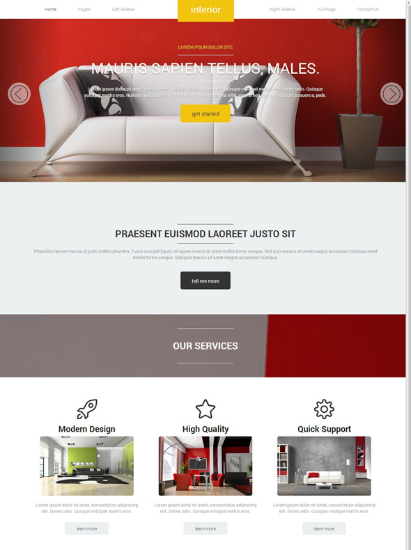 Furniture Design Templates interior decoration site template - interior & furniture - website