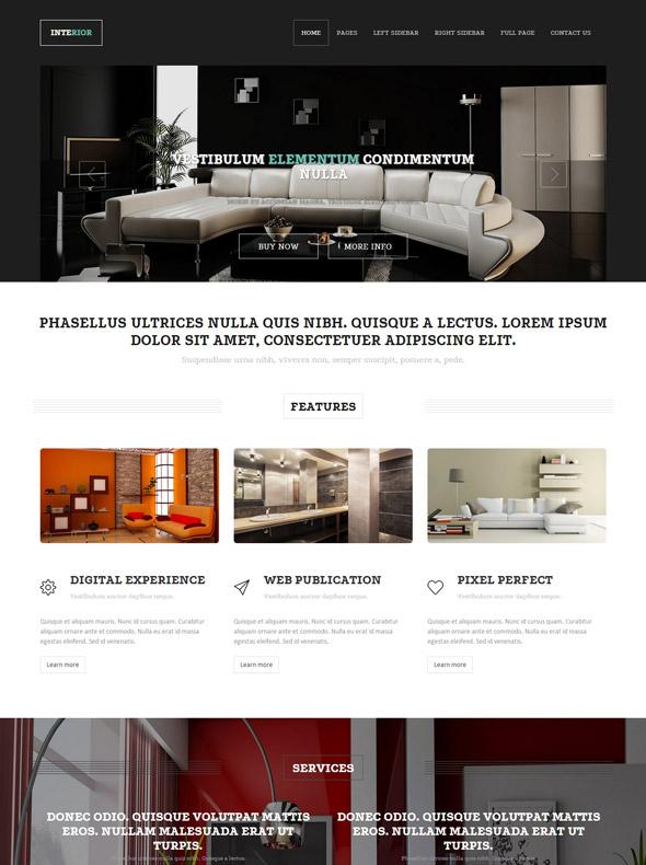 Interior designing website template interior furniture for Interior furniture website
