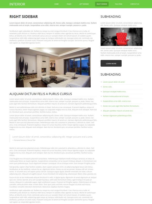 Interior designing html template interior furniture for Interior furniture website