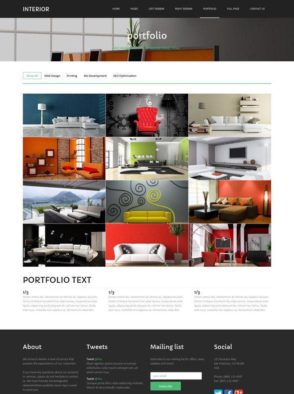 Interior accessories website template interior for Interior furniture website