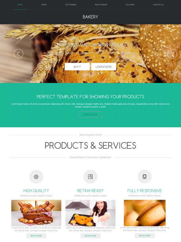 Bakery Equipment Web Template - Bakery - Food & Restaurant ...
