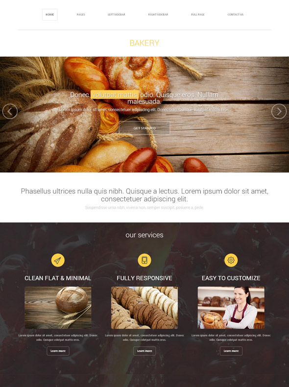 Bakery Association Web Template - Bakery - Food & Restaurant ...