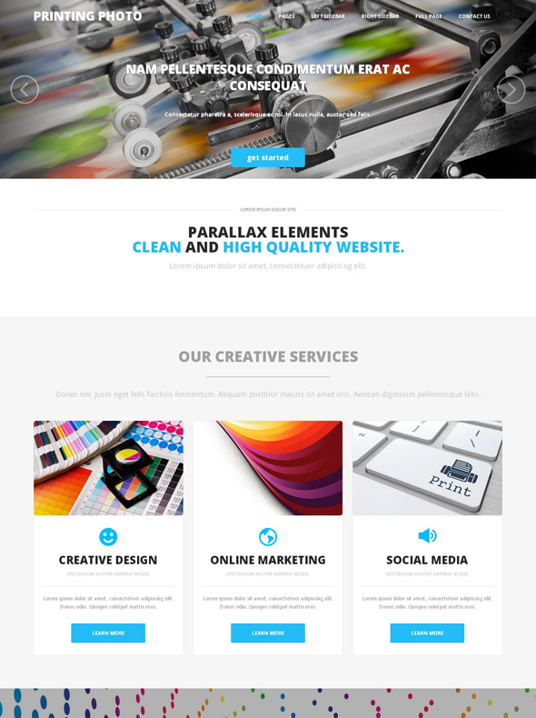 Online Printing Web Template - Photo Printing - Art & Photography
