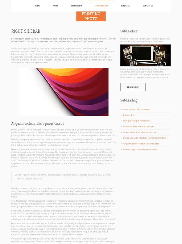 printing art website template photo printing art photography dreamtemplate. Black Bedroom Furniture Sets. Home Design Ideas