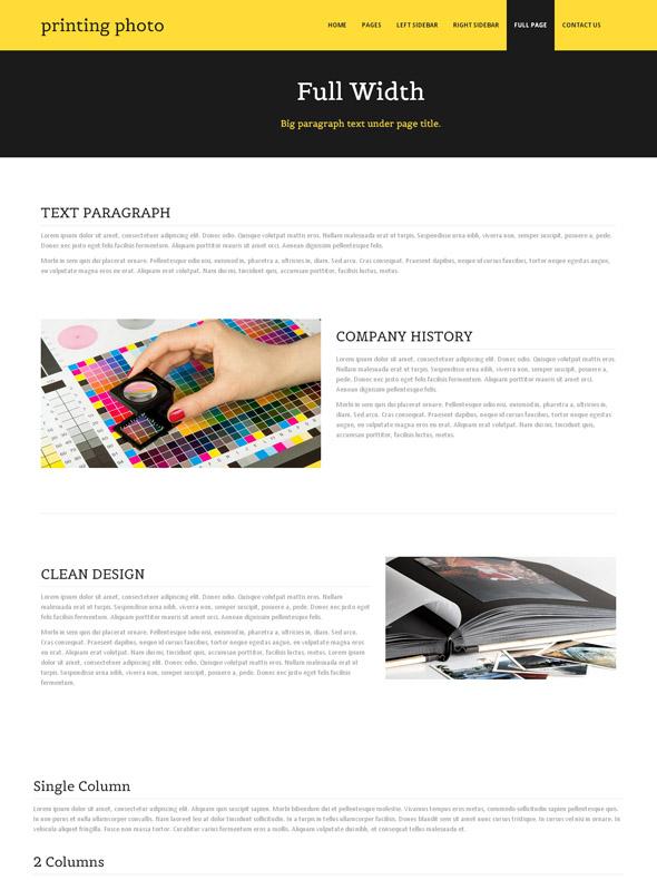 digital print website template photo printing art photography dreamtemplate. Black Bedroom Furniture Sets. Home Design Ideas