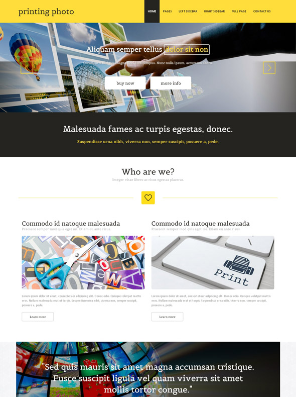 Digital Print Website Template - Photo Printing - Art & Photography