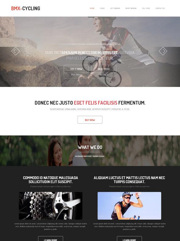BMX bicycles Website Template - BMX Cycling - Sports - DreamTemplate