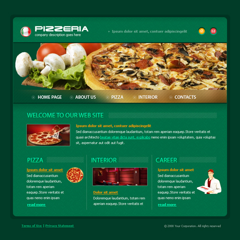 3652 food restaurant website templates dreamtemplate