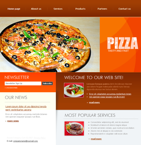 3669 food restaurant website templates dreamtemplate 3669 templates website templates food pronofoot35fo Choice Image