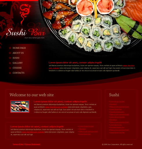 4229 food restaurant website templates dreamtemplate