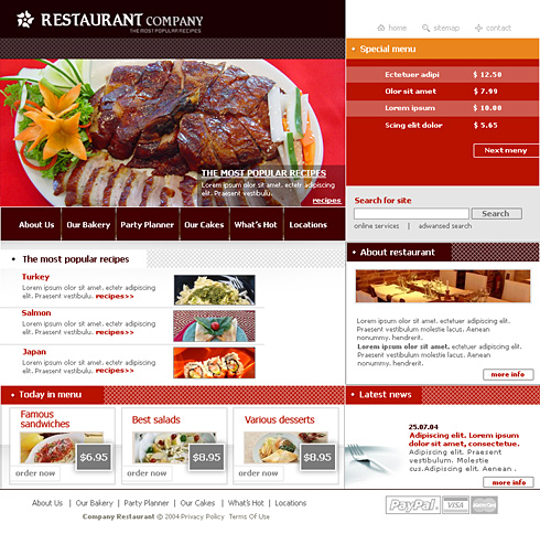 0580 food restaurant website templates dreamtemplate