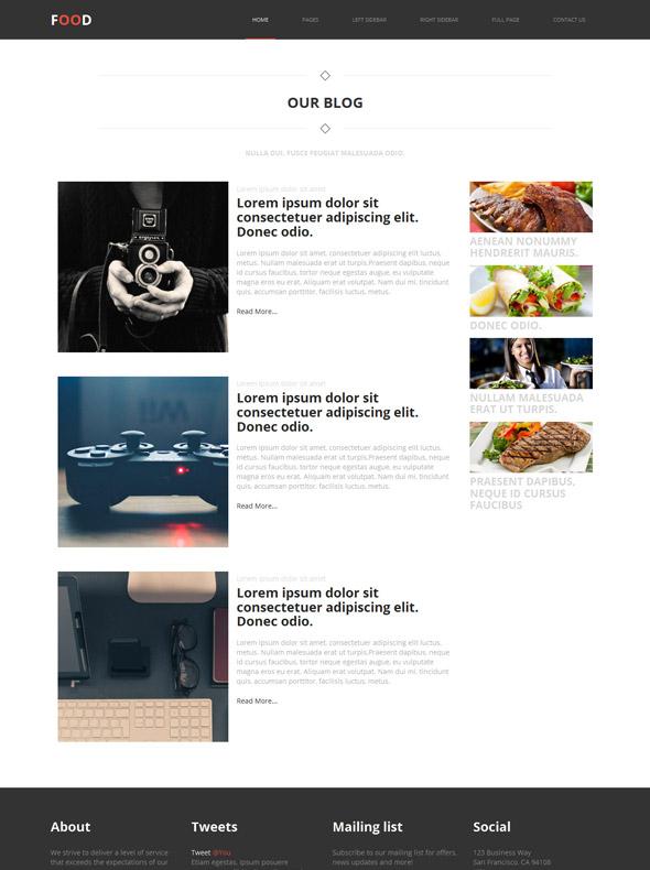 eating food web template food restaurant website templates dreamtemplate. Black Bedroom Furniture Sets. Home Design Ideas