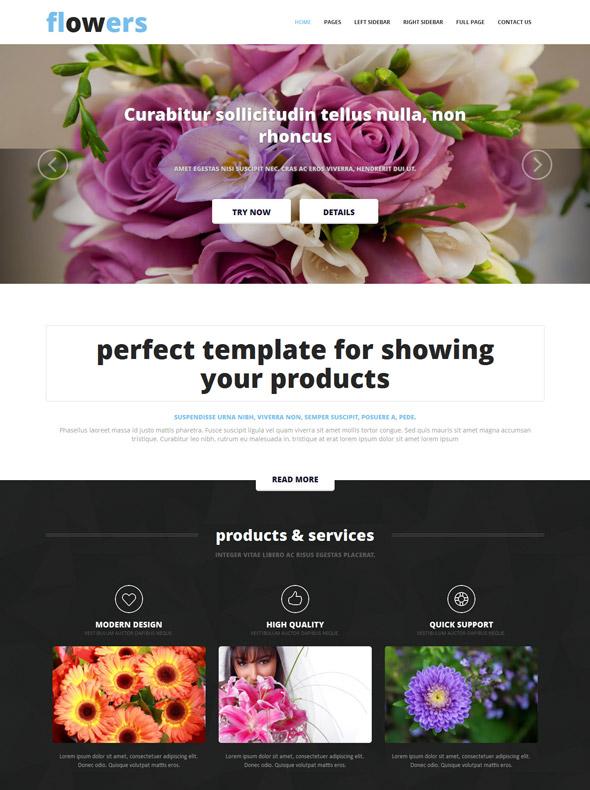 Flower Website Template - Flower - Website Templates - DreamTemplate