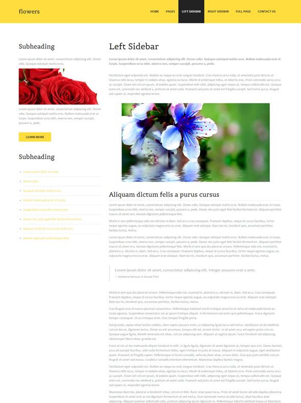 flower products website template flower website templates dreamtemplate. Black Bedroom Furniture Sets. Home Design Ideas