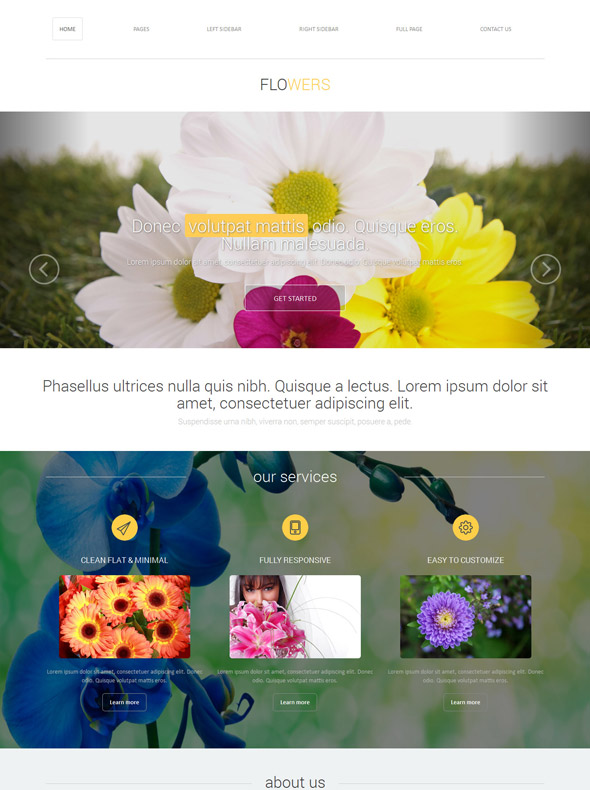 Flower Decoration Web Template