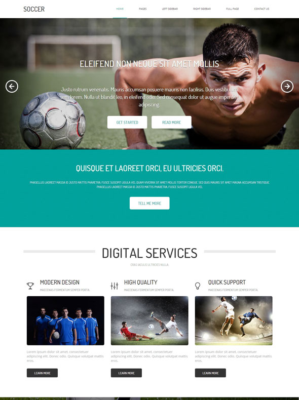Soccer HTML Template - Soccer - Sports - DreamTemplate
