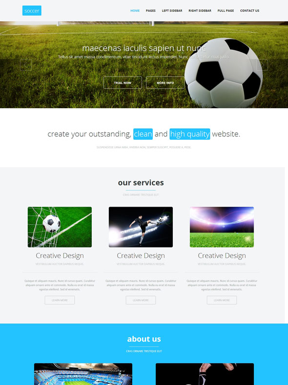 Soccer Sport HTML Template - Soccer - Sports - DreamTemplate