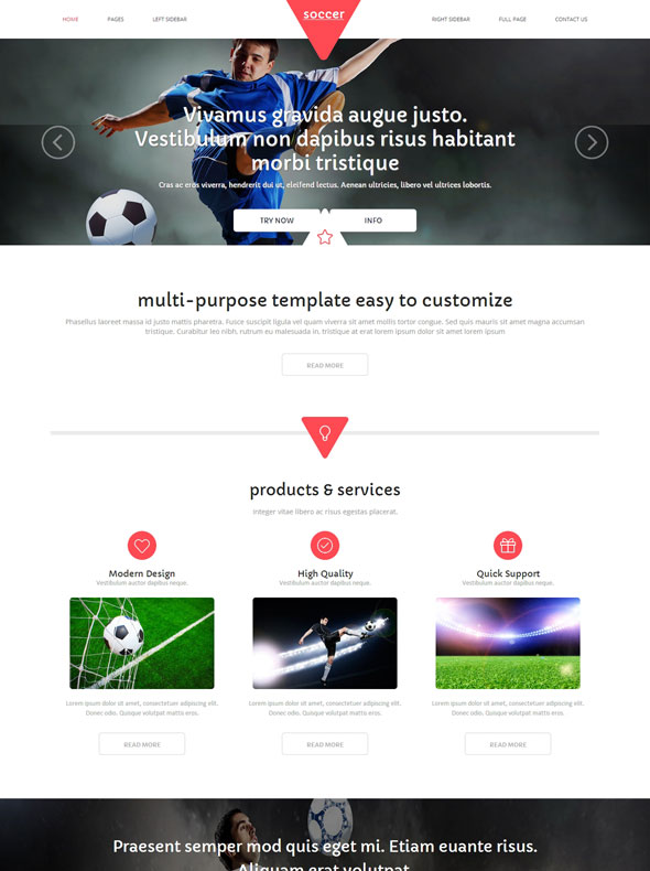 Football HTML Template - Soccer - Sports - DreamTemplate