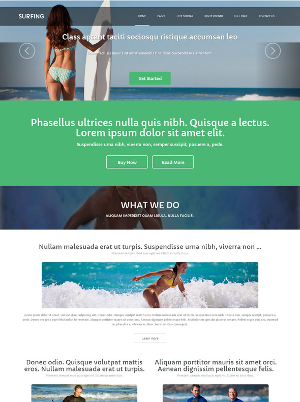 Couch Surfing Website Template - Surfing - Sports - DreamTemplate