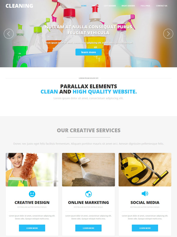 Cleaning Corporate HTML Template - Cleaning - Website Templates ...